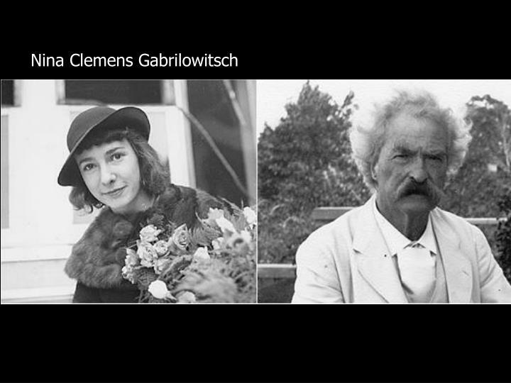 Nina Clemens Gabrilowitsch
