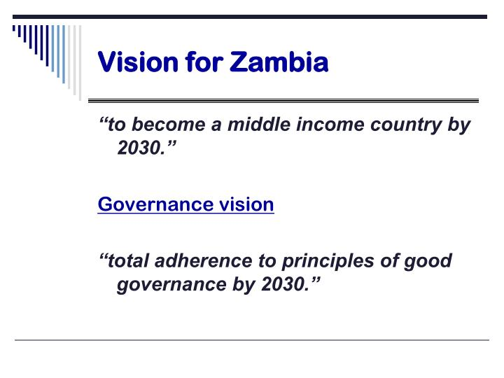 Vision for Zambia