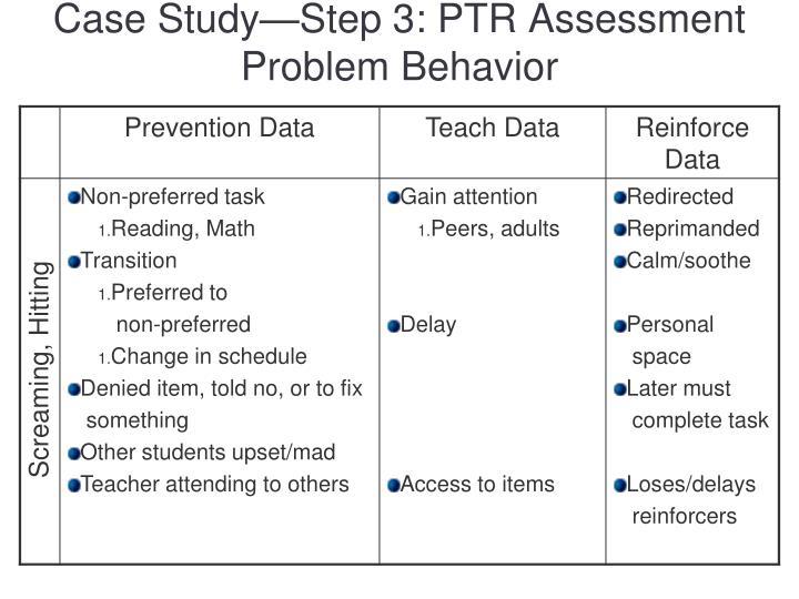 Case Study—Step 3: PTR Assessment