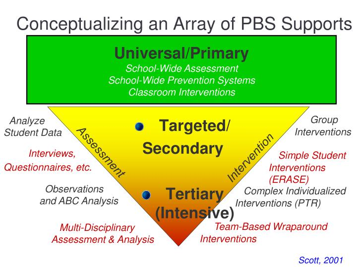 Conceptualizing an Array of PBS Supports