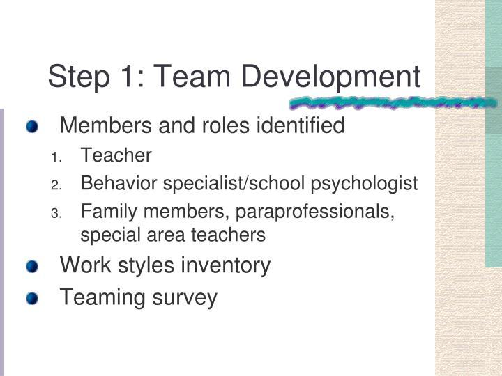 Step 1: Team Development