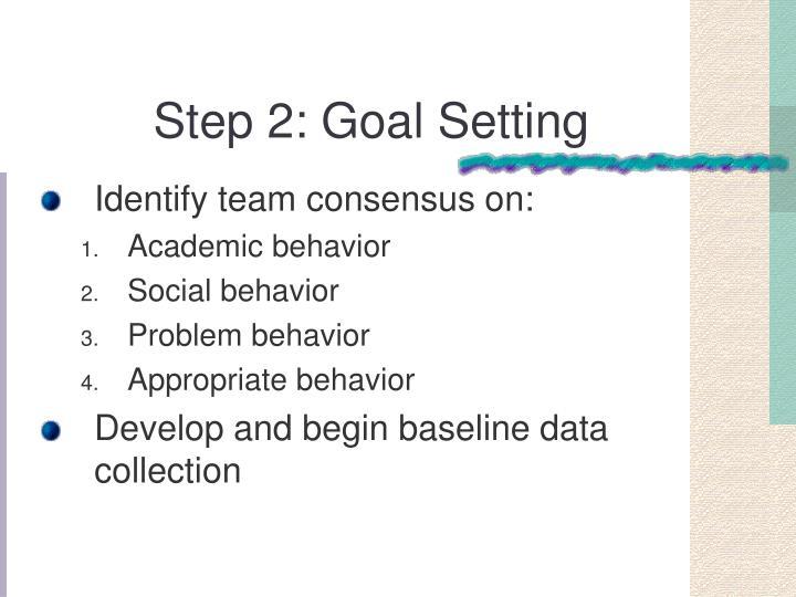Step 2: Goal Setting