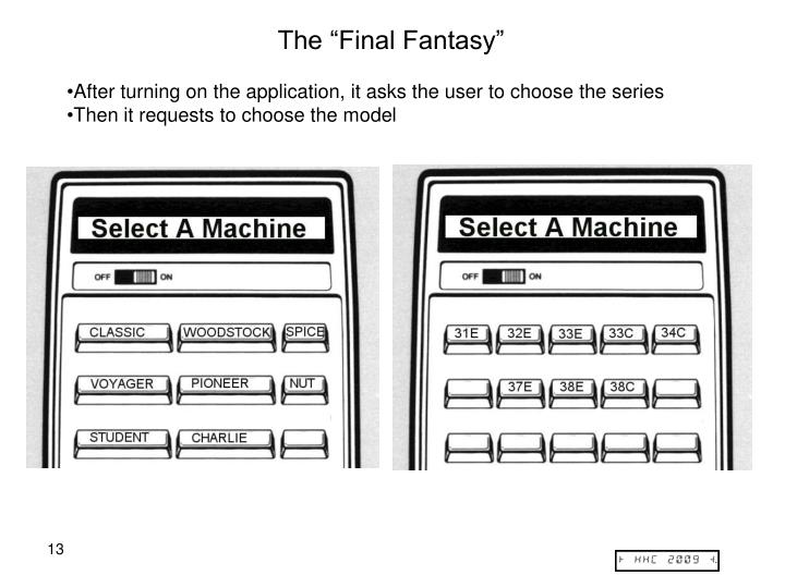 "The ""Final Fantasy"""