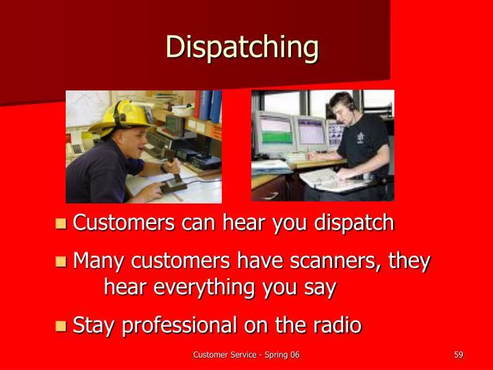 Dispatching