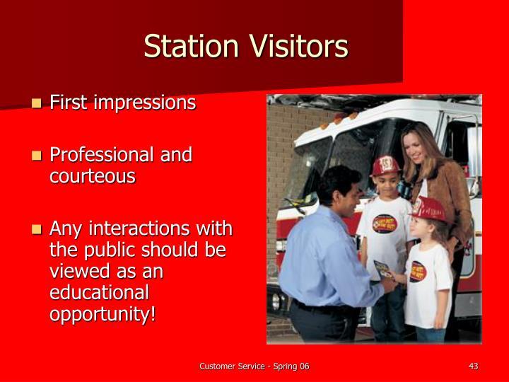 Station Visitors
