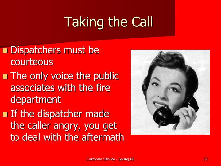Taking the Call