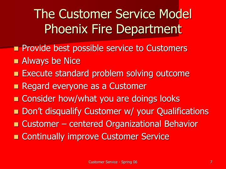 The Customer Service Model