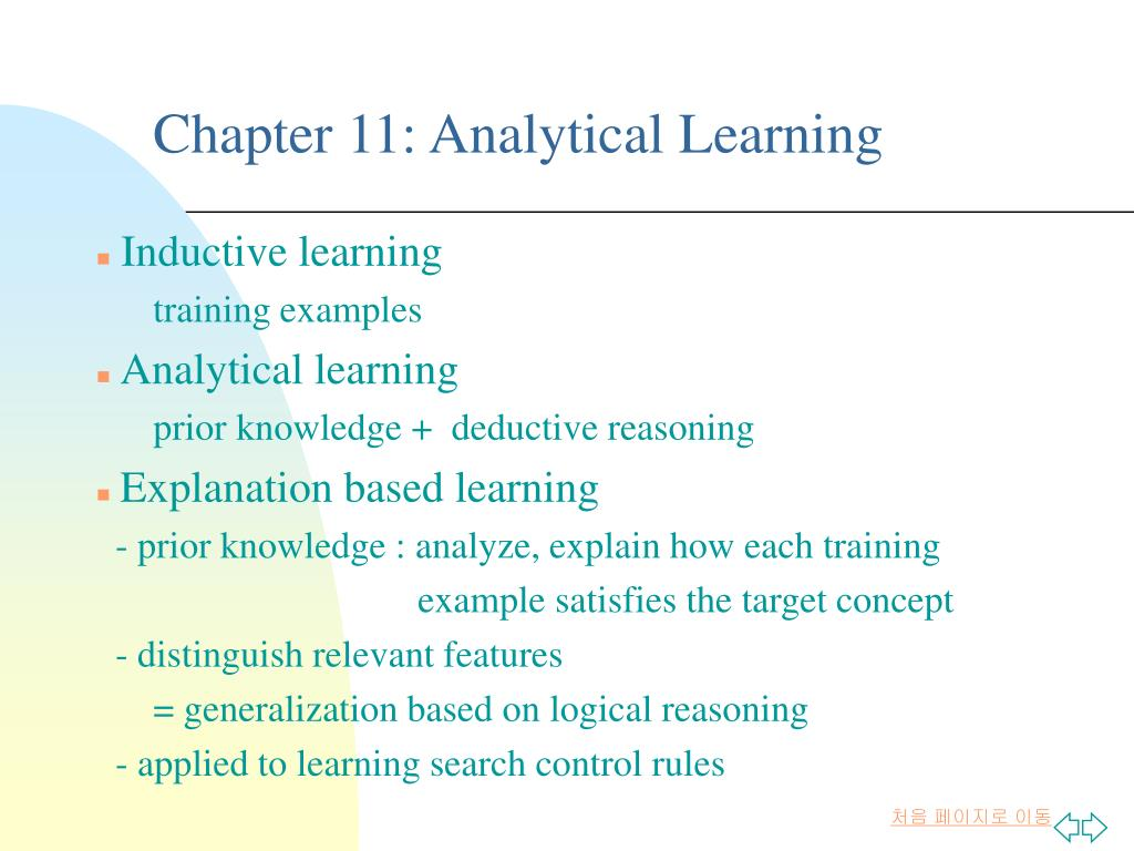 Analytical Learning ppt - chapter 11: analytical learning powerpoint