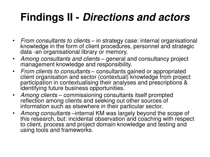 Findings II -