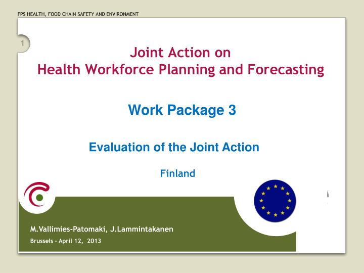 joint action on health workforce planning and forecasting n.