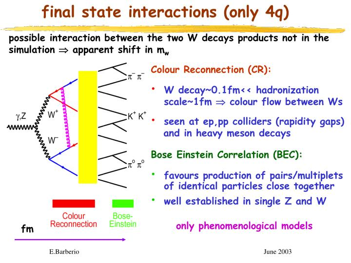 final state interactions (only 4q)