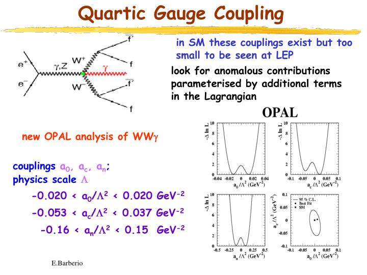Quartic Gauge Coupling