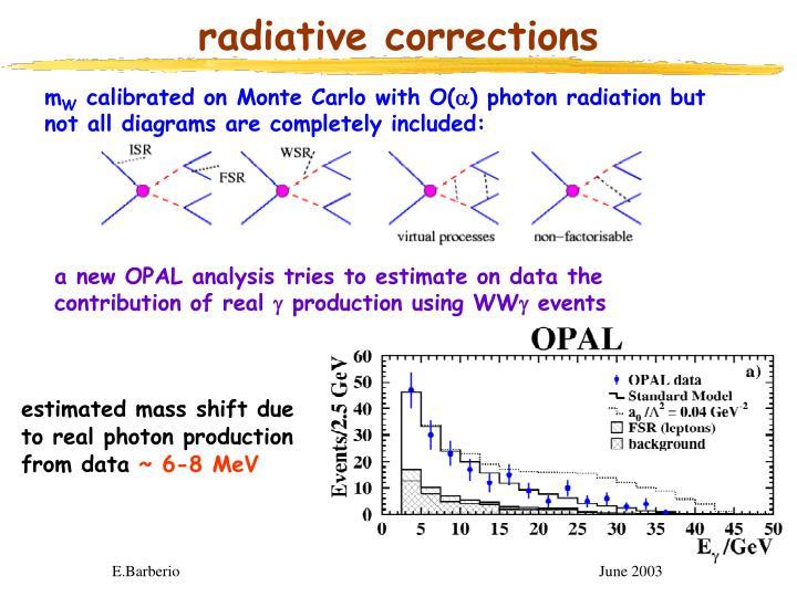 radiative corrections