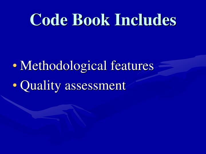 Code Book Includes