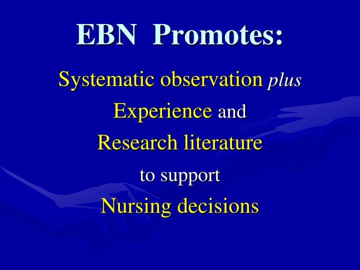 EBN  Promotes: