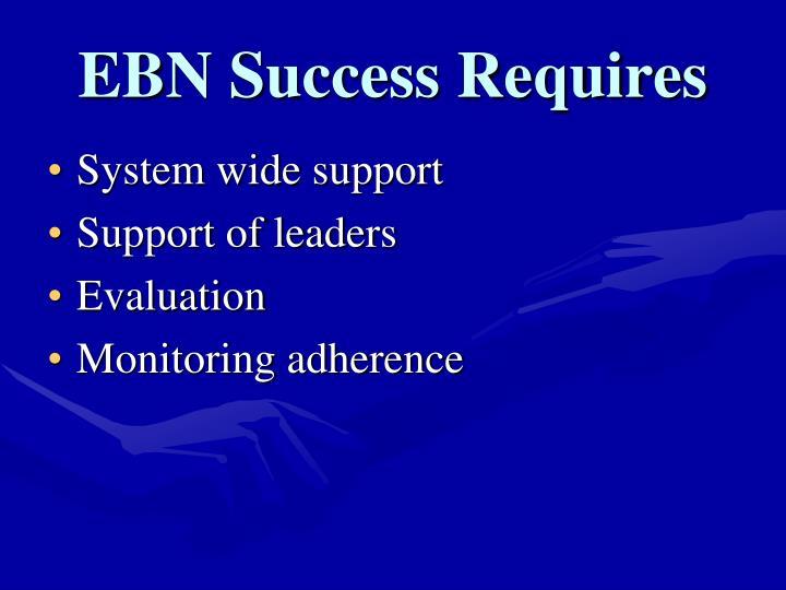 EBN Success Requires