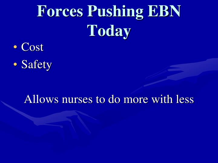 Forces Pushing EBN Today