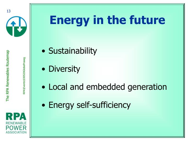 Energy in the future