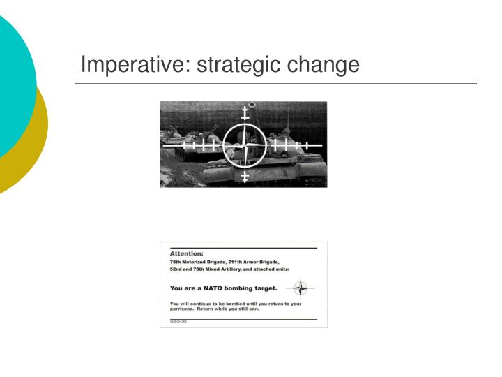 Imperative: strategic change