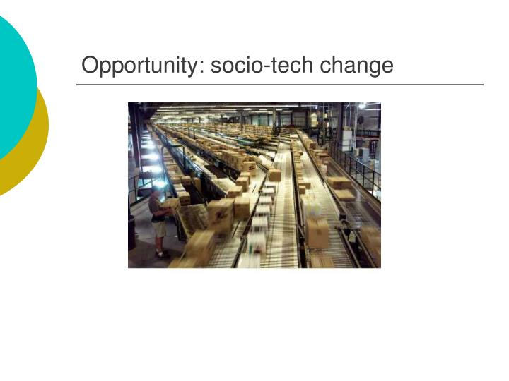 Opportunity socio tech change