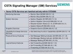 csta signaling manager sm services