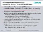 switching function representation international number format gnf and displays