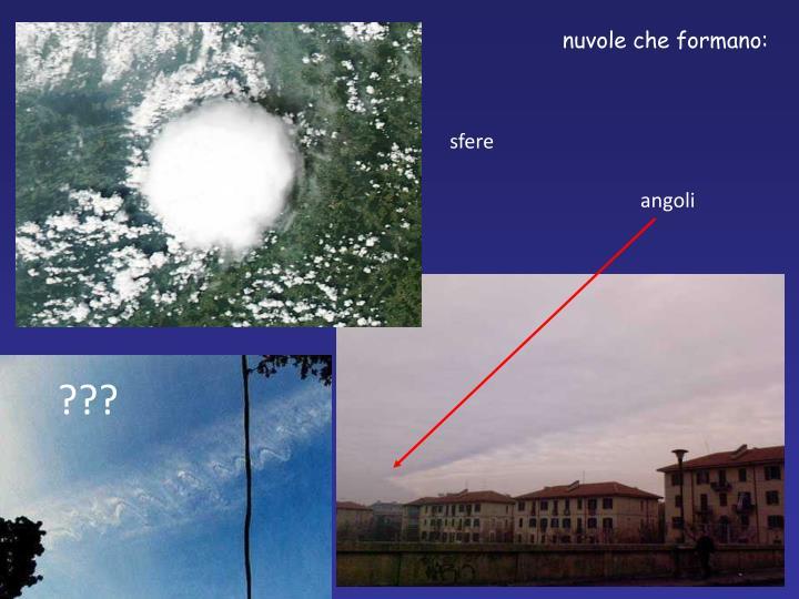 nuvole che formano: