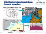 orbital position defines dynamic scene content in sensor data