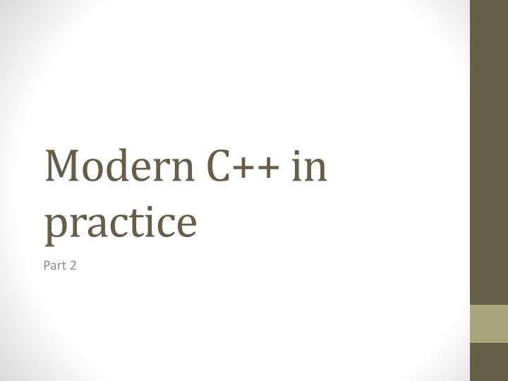 modern c in practice n.