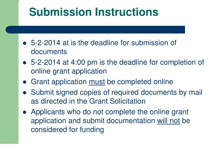 Submission Instructions