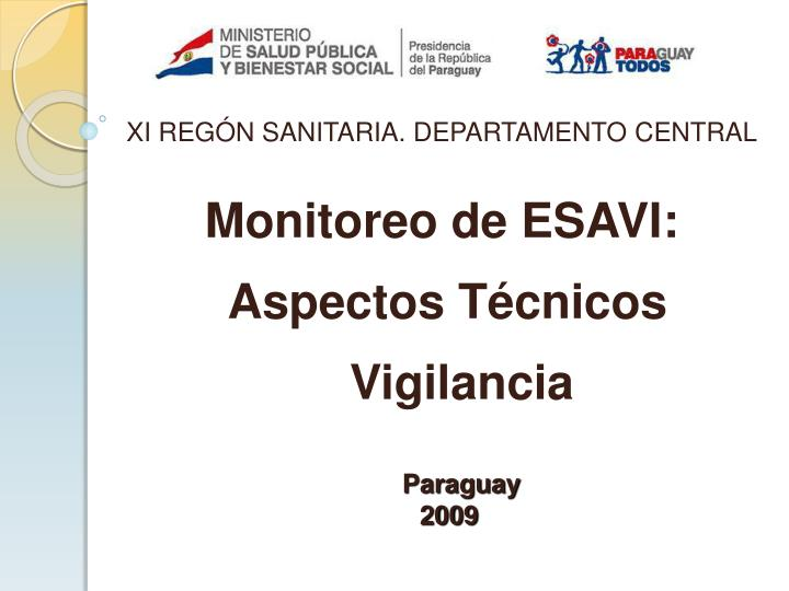 monitoreo de esavi aspectos t cnicos vigilancia n.