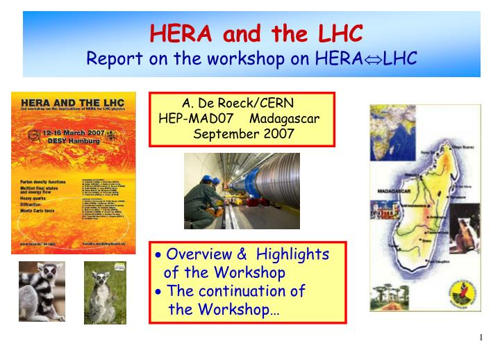 hera and the lhc report on the workshop on hera lhc n.