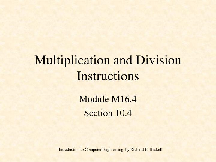 Ppt Multiplication And Division Instructions Powerpoint