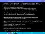 what is enterprise generation language egl
