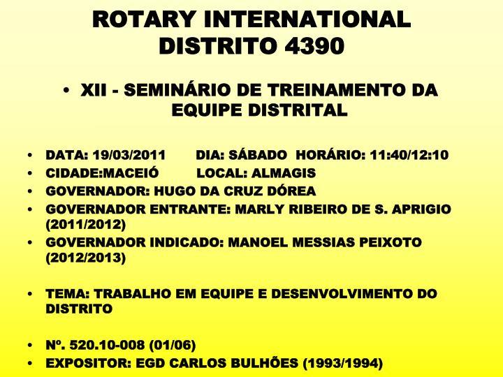 rotary international distrito 4390 n.