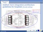 medium term integration architecture guidelines for hospitals finnish setting