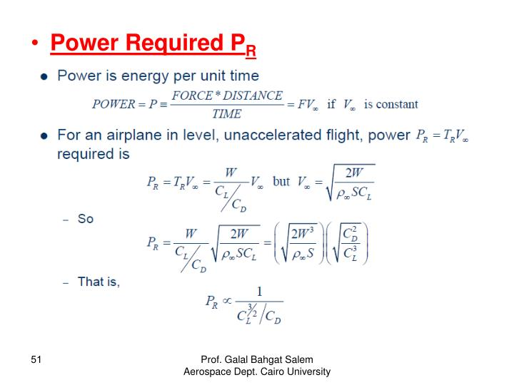 Power Required P