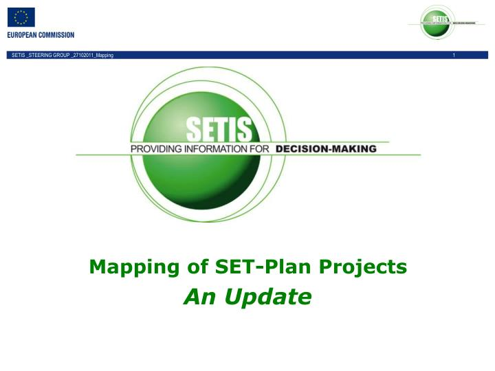 Mapping of SET-Plan Projects