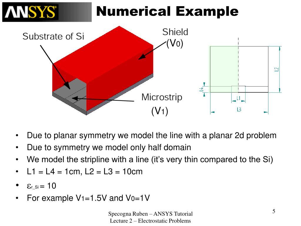 PPT - ANSYS 7 1 TUTORIAL Electrostatic problems Ruben