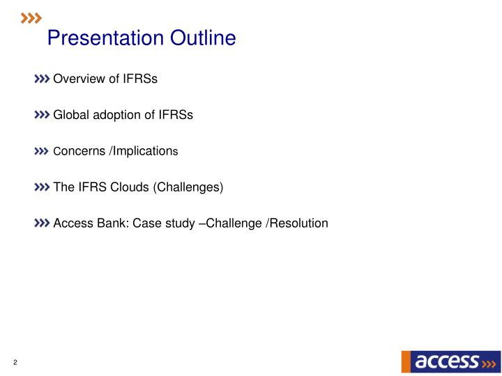 Ppt Managing The Challenges Of Ifrs Transition A N Operators