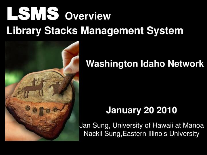 lsms overview library stacks management system n.