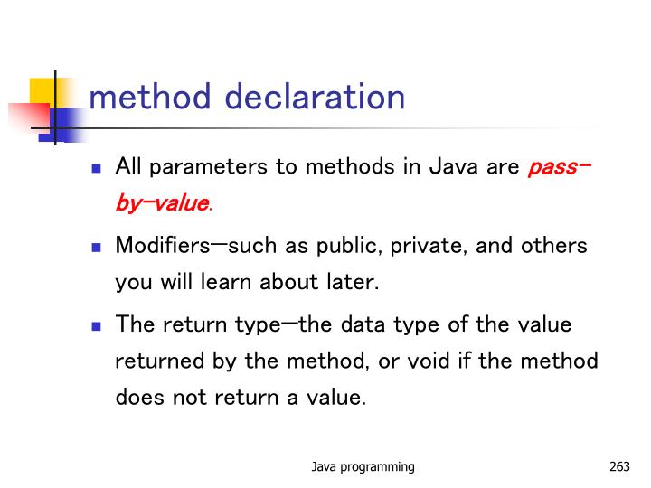 method declaration