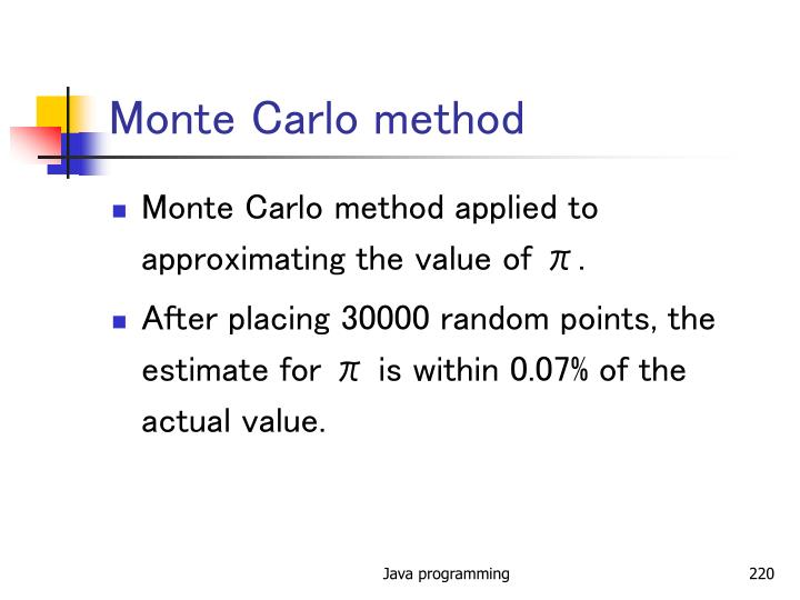 Monte Carlo method