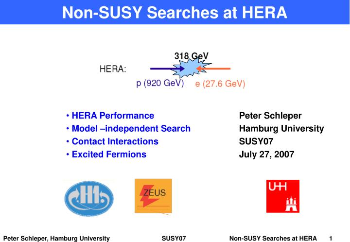 non susy searches at hera n.