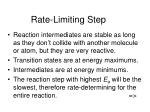 rate limiting step