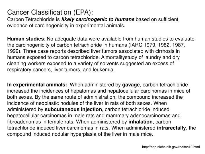 Cancer Classification (EPA):