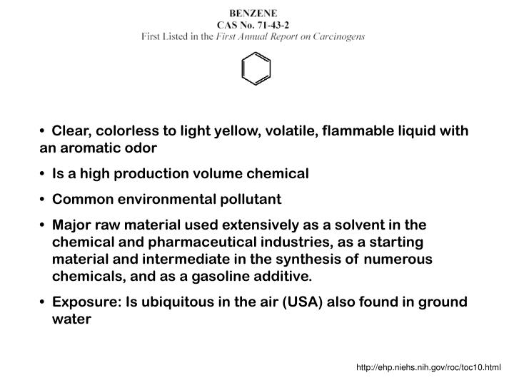 Clear, colorless to light yellow, volatile, flammable liquid with an aromatic odor