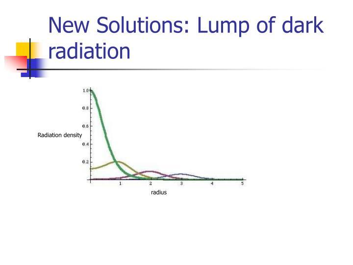 New Solutions: Lump of dark radiation