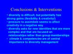 conclusions interventions