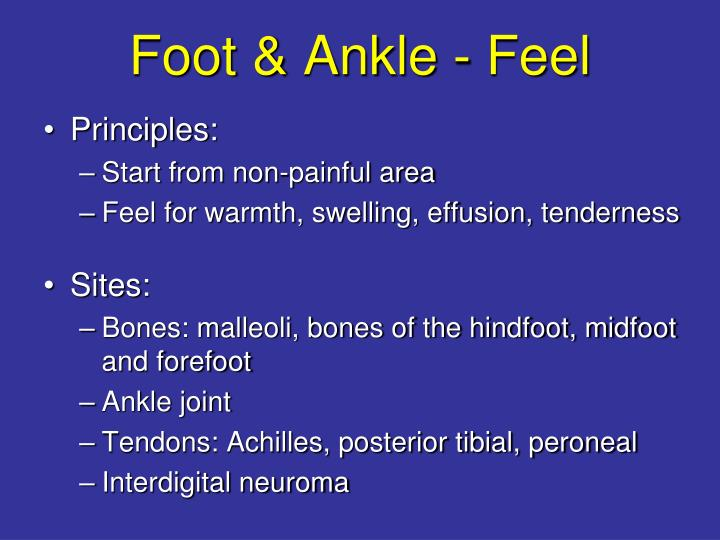 Foot & Ankle - Feel